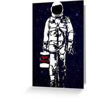 Badass Astronaut - Black visor Greeting Card
