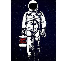 Badass Astronaut - Black visor Photographic Print