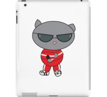 Rapper Cat in Track Suit iPad Case/Skin