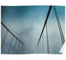 Golden Gate Bridge in Fog Poster
