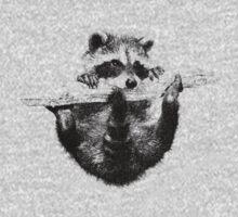 Hanging Raccoon Kids Clothes