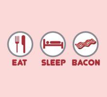 Eat Sleep Bacon One Piece - Short Sleeve