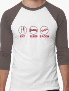 Eat Sleep Bacon Men's Baseball ¾ T-Shirt