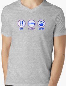 Eat Sleep Cook Mens V-Neck T-Shirt