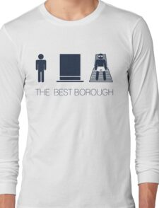 Man hat tan Tee - Best - Yankee Blue Lettering Long Sleeve T-Shirt