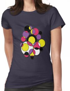 Circles of colour! Womens Fitted T-Shirt