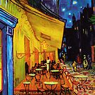 Van Gogh Cafe Terrace at Night iPhone Cover by jlerner