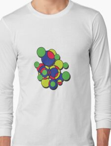 Circles of colour! Without the 'male' symbol. Long Sleeve T-Shirt
