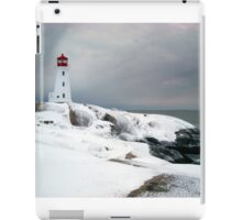 Peggys Cove Lighthouse in the Snow - Nova Scotia Canada iPad Case/Skin