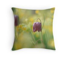 Meadow in bloom at Downton Abbey Throw Pillow