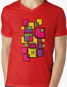 An abstract of squares! Mens V-Neck T-Shirt