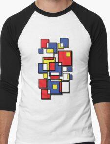 An abstract of squares - shadow Men's Baseball ¾ T-Shirt