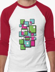 Abstract squares! Men's Baseball ¾ T-Shirt