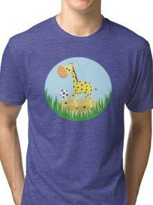 Giraffe Tri-blend T-Shirt