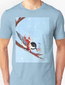 Hot Chocolate Chickadee Unisex T-Shirt