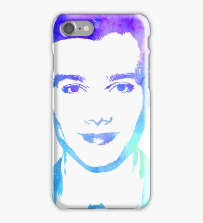 chris in blue iPhone Case/Skin