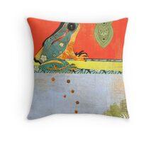 Frog Totem Throw Pillow