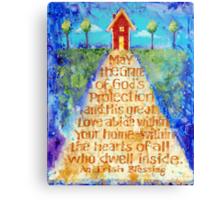 Irish Home Blessing Canvas Print