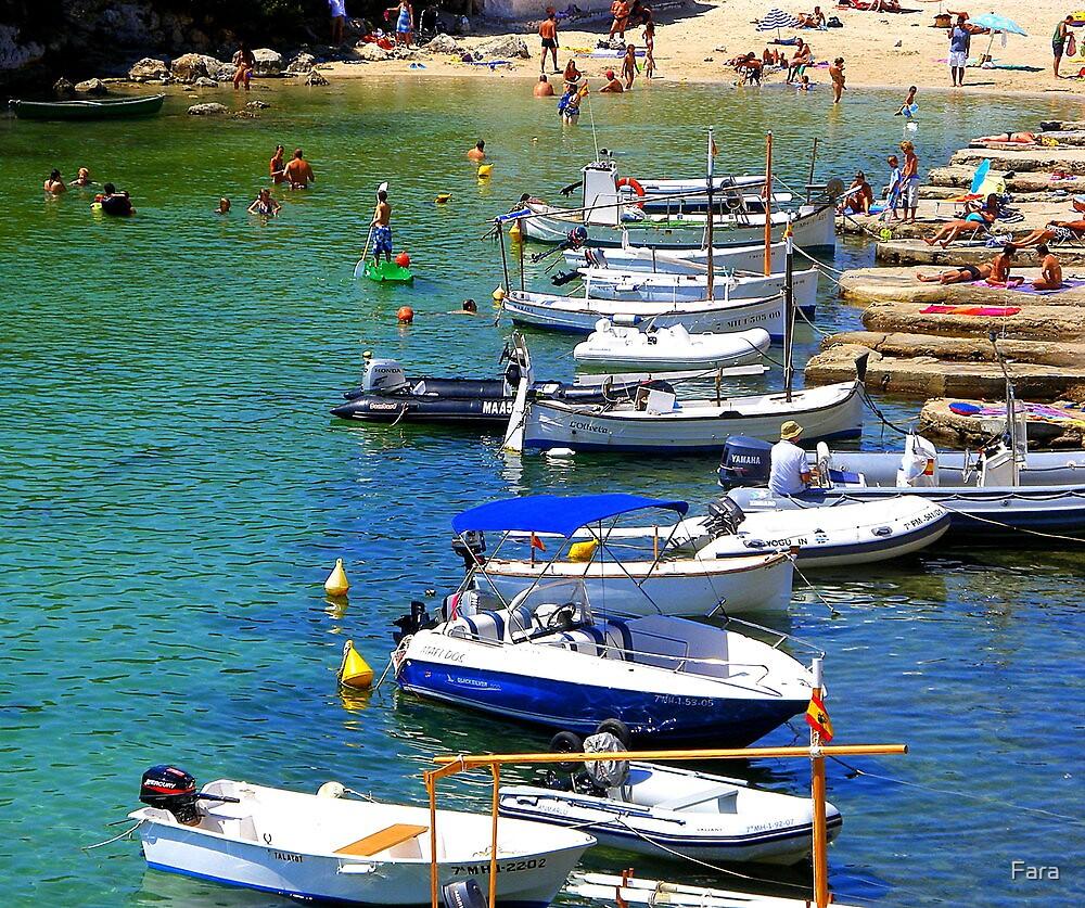 Cala Alcaufar Harbour by Fara
