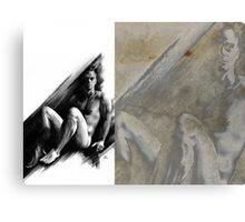 Bradley - Conté Drawing COMPILATION Canvas Print