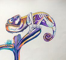 leon le chameleon  by Sophie Marshall