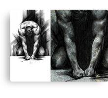 Anger- Conté Drawing COMPILATION Canvas Print