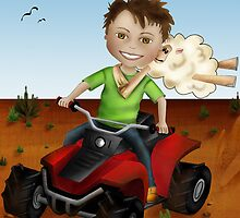 Outback boy on quad bike by Kristy Spring-Brown