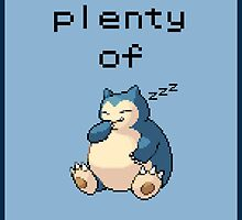 Snorlax Motivational Poster - REST! by NumberIX