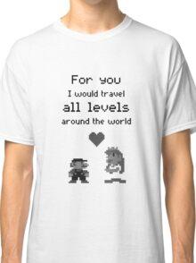 Mario and Peach love Classic T-Shirt