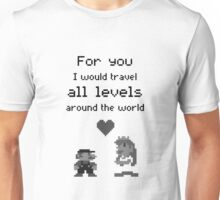 Mario and Peach love Unisex T-Shirt