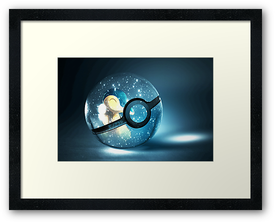 Cyndaquil in Pokeball by Stephen Dwyer