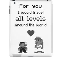 Mario and Peach love iPad Case/Skin