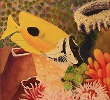 Foxface Rabbit Fish by bohemianartist