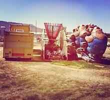 Carnival leaving town by Larry  Stewart
