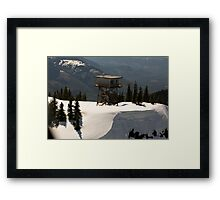 High on the Hill Framed Print