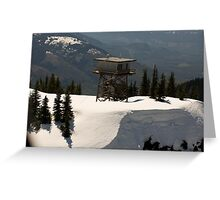 High on the Hill Greeting Card