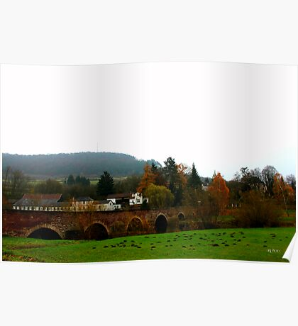 German Countryside In Fall Poster