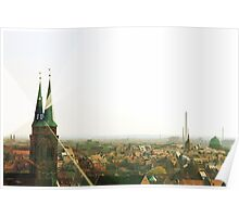 Nurnberg, Germany Skyline Poster