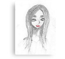 Achromatic Kiss Canvas Print