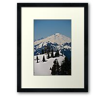 Lookout Mountain, Lookout Tower with Mt. Baker  Framed Print
