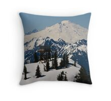 Lookout Mountain, Lookout Tower with Mt. Baker  Throw Pillow