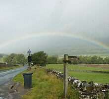 The Rainbow over the North Yorkshire Dales by Graeme Rouillon