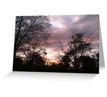 sky at sunset / dusk Greeting Card