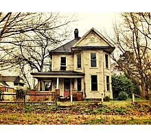 vintage forgotten home in urban Alabama Photographic Print