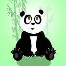Panda Girl - Green by Adamzworld