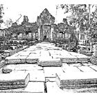Angkor Wat Sketch by Adam  Hurley