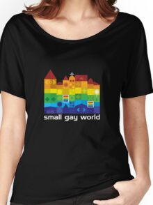 Small Gay World - Dark Background Women's Relaxed Fit T-Shirt