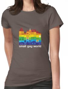 Small Gay World - Dark Background Womens Fitted T-Shirt