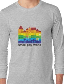 Small Gay World - Light Background Long Sleeve T-Shirt