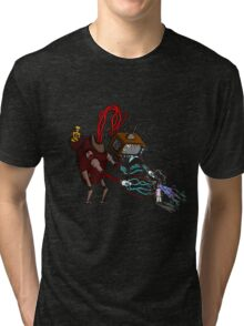 Take care with TV monster ! Tri-blend T-Shirt